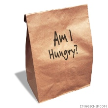 am i hungry paper lunch bag