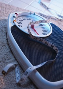 diet scale and tape measure