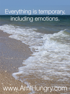 Emotions are temporary