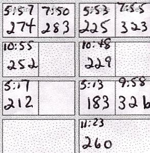 glucose log partial
