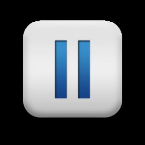 pause button square