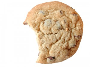 bite out of cookie