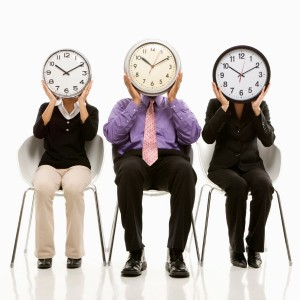3 people clocks covering faces