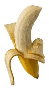 banana half peeled