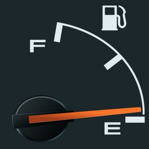 empty fuel guage