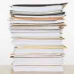 large stack of papers 150