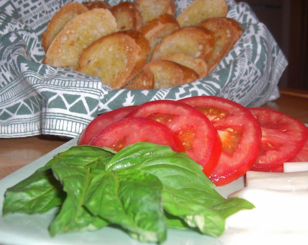 Tomato Basil Mozzarella Bruschetta