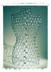 Dress form - silver