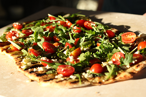 Grilled-Pizza-with-Pesto-Arugula-and-Feta