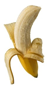 banana half peeled