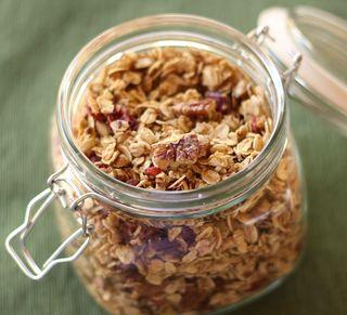 Michelles homemade granola in jar