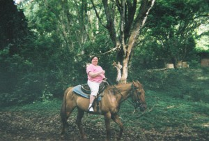 Shirley Bohlken horseback riding