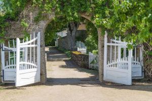 A wooden gate symbolizing flexible boundaries.
