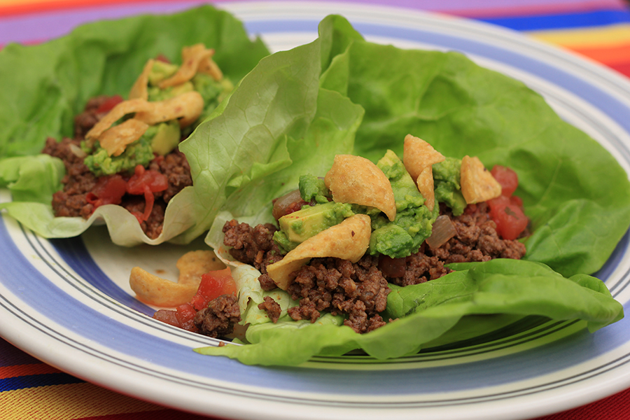 Taco Salad Lettuce Wraps