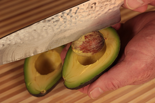 How to remove an avocado pit
