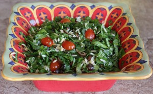Spinach Orzo Salad with Lemon Dressing