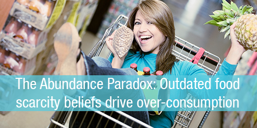The Abundance Paradox: Outdated food scarcity beliefs drive over-consumption