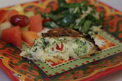 Broccoli Red Pepper Quiche 2