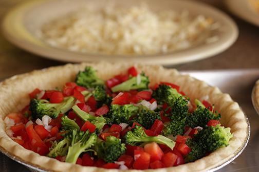 Broccoli Red Pepper Quiche