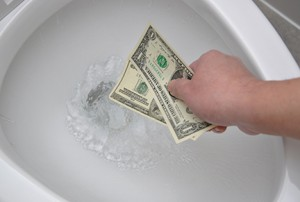 Money-down-the-toilet