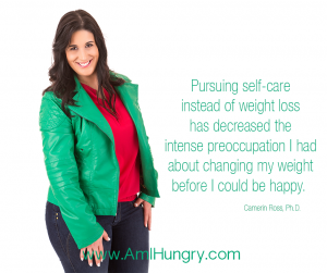 Self-care not weight loss