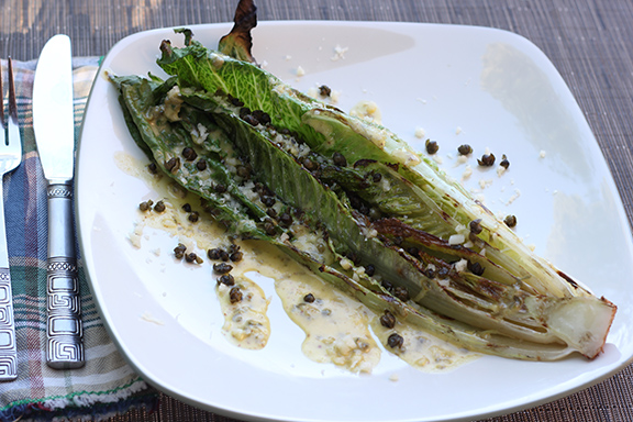 Grilled-Romaine-Vegetarian-Caesar-Salad-Crispy-Capers
