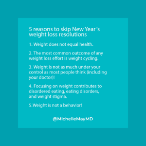 Why a New Year's resolution to lose weight doesn't work