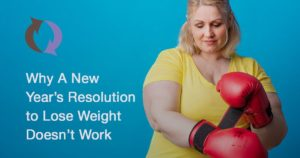 Woman putting on boxing gloves - Why New Year's resolution to lose weight doesn't work