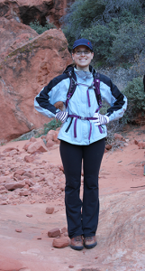 Gretchen in Snow Canyon