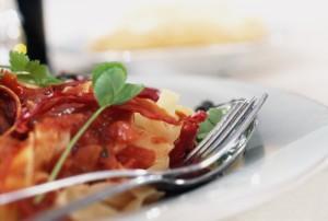 beautiful pasta meal