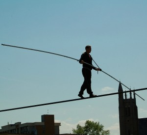 Dieting is like walking a tightrope ;ole Nik Wallenda