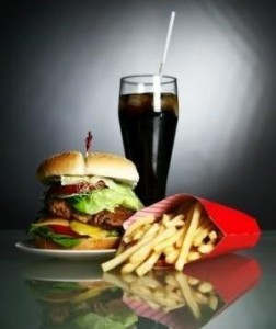 burger fries and soda