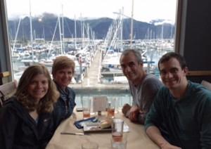 May family dinner in Alaska