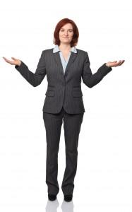 unsure business woman