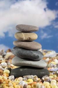 stacked balanced rocks