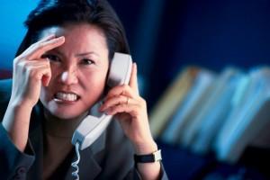 woman on phone angry