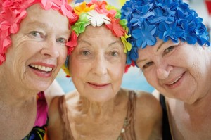 women older 3 - bathing caps and vibrant