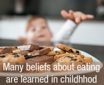 Many beliefs about eating are learned in childhood
