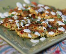 Zucchini-Fritters-with-Cilantro-Lime-Crema