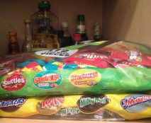 Large bags of Halloween Candy
